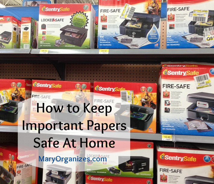 how to keep important papers safe at home