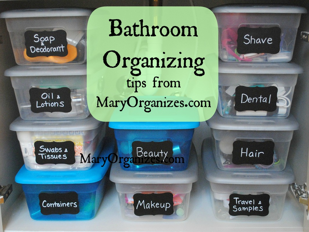 Bathroom Organizing Tips