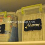 organizing medicine and vitamins
