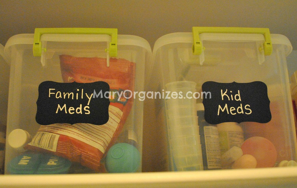 organizing family medicine and vitamins