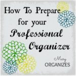 How To Prepare for your Professional Organizer