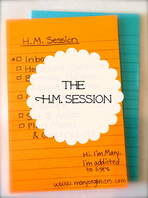 The HM Session Checklist