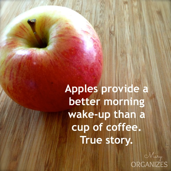 Apples provide a better morning wake up than a cup of coffee