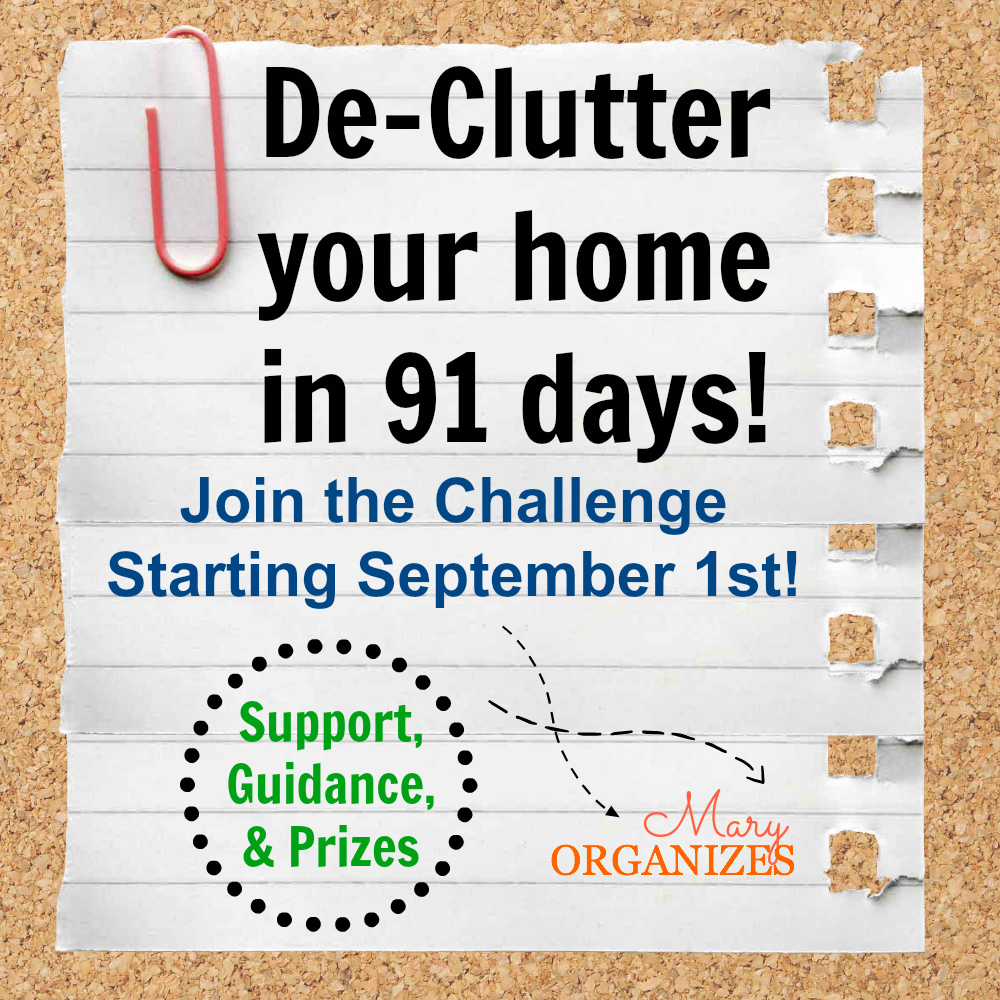 DECLUTTER your home in 91 days - The Challenge