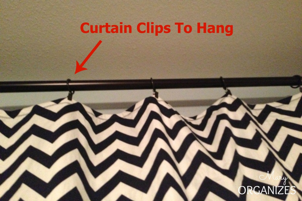Hang with curtain clips