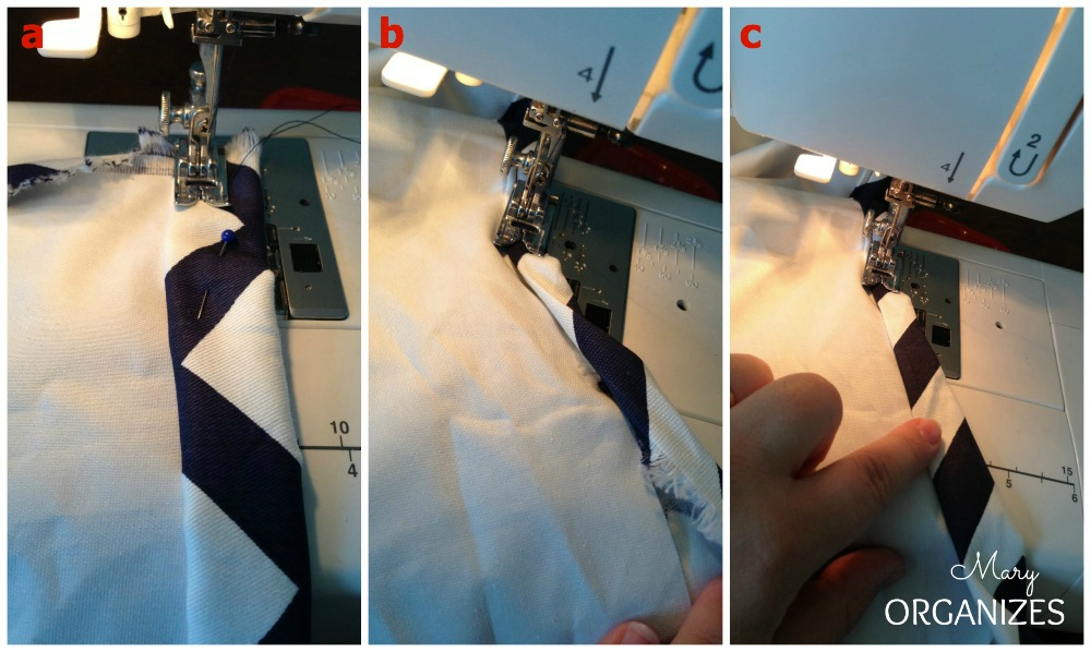 Step 7 - Sew the edges of the panel