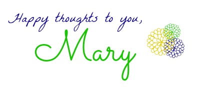 Mary Organizes Signature