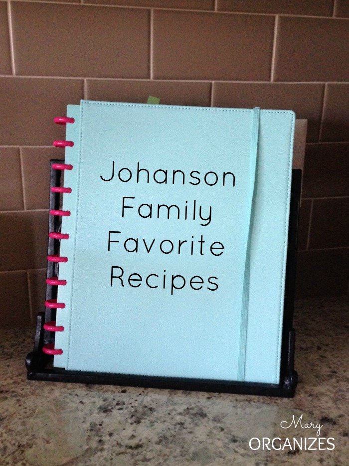 My new discbound family recipe book