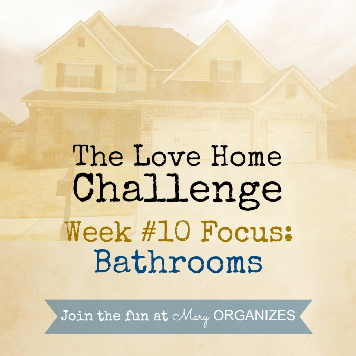 Week 10 - Bathrooms -- of The Love Your Home Challenge