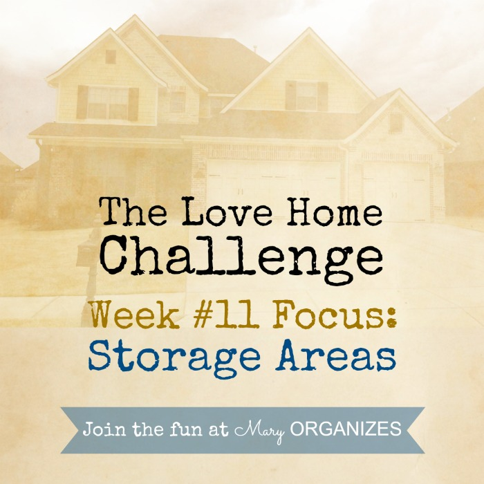 Week 11 - Storage Areas -- of The Love Your Home Challenge