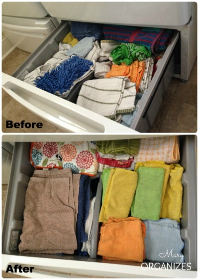 Laundry Room Update - tidying up the drawers