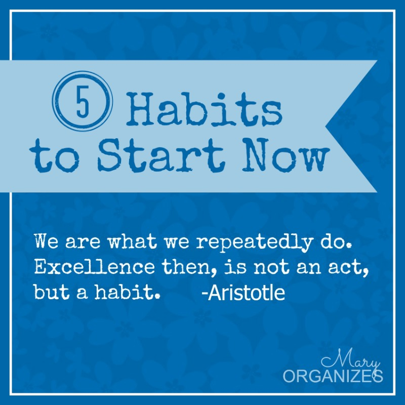 5 Habits to Start NOW - We are what we repeatedly do Excellence then is not an act but a habit - aristotle