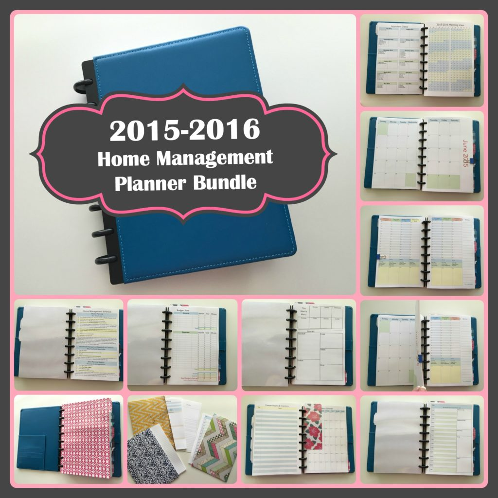 2015-2016 Complete Home Management Planner