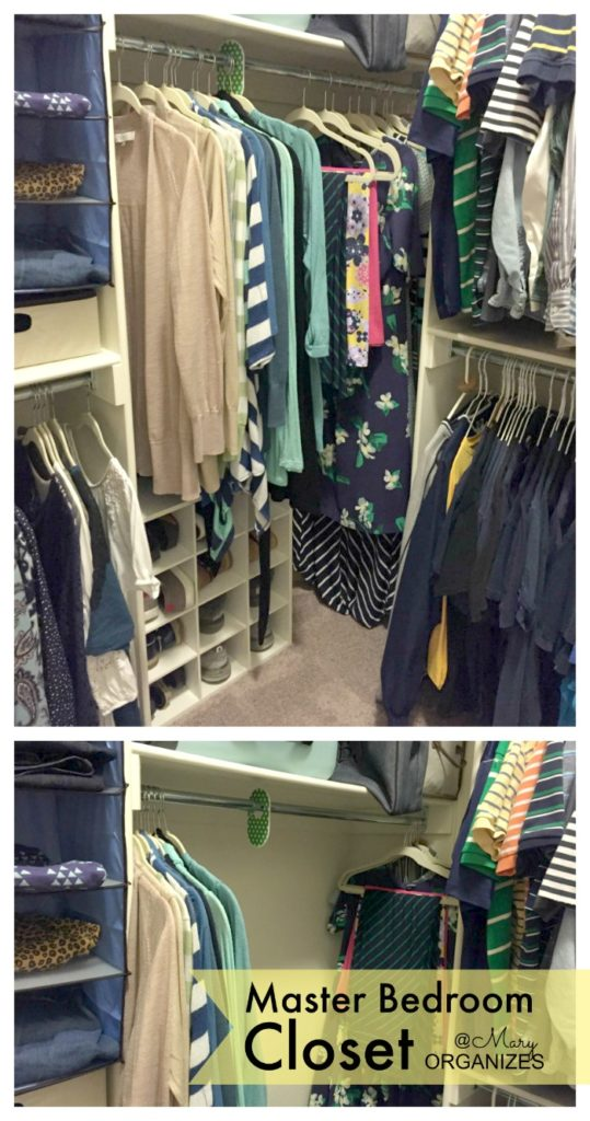 MBR Closet - long clothes pushed in and spread