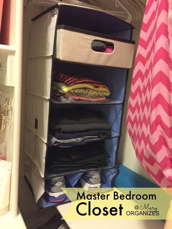 MBR Closet - workout clothes organizer