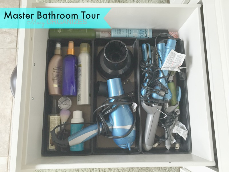 Mary ORGANIZES Master Bathroom Tour - bottom drawer