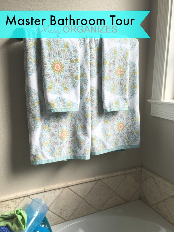 Mary ORGANIZES Master Bathroom Tour - decorative towels for color