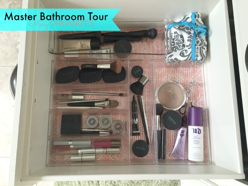 Mary ORGANIZES Master Bathroom Tour - middle drawer