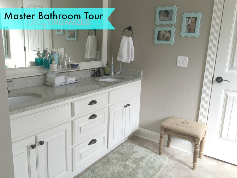 Mary ORGANIZES Master Bathroom Tour - sink view