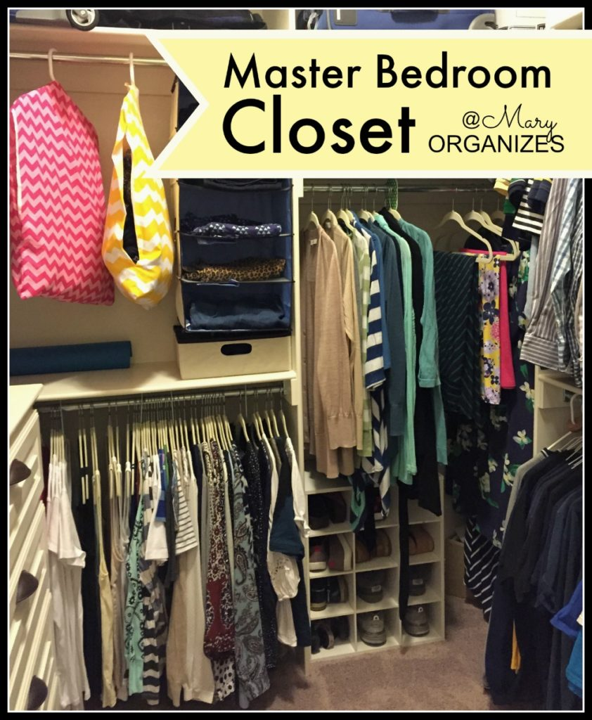 Mary Organizes - Master Bedroom Closet