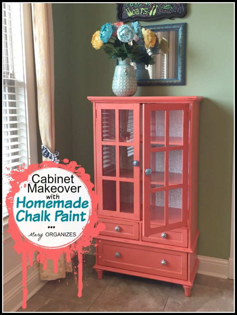 Cabinet Makeover with Homemade Chalk Paint