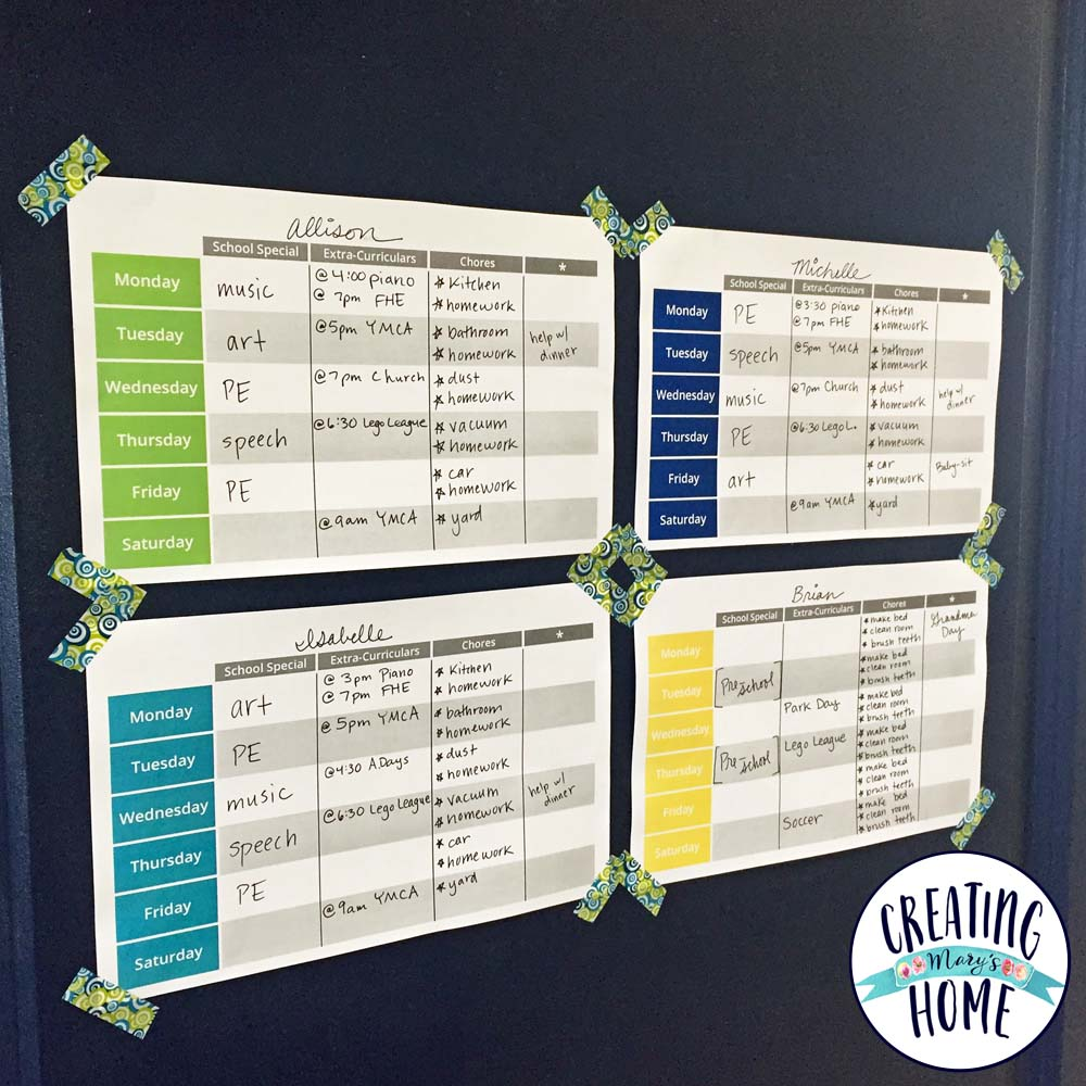 Managing Kid's Busy Schedules {FREE PRINTABLE ...