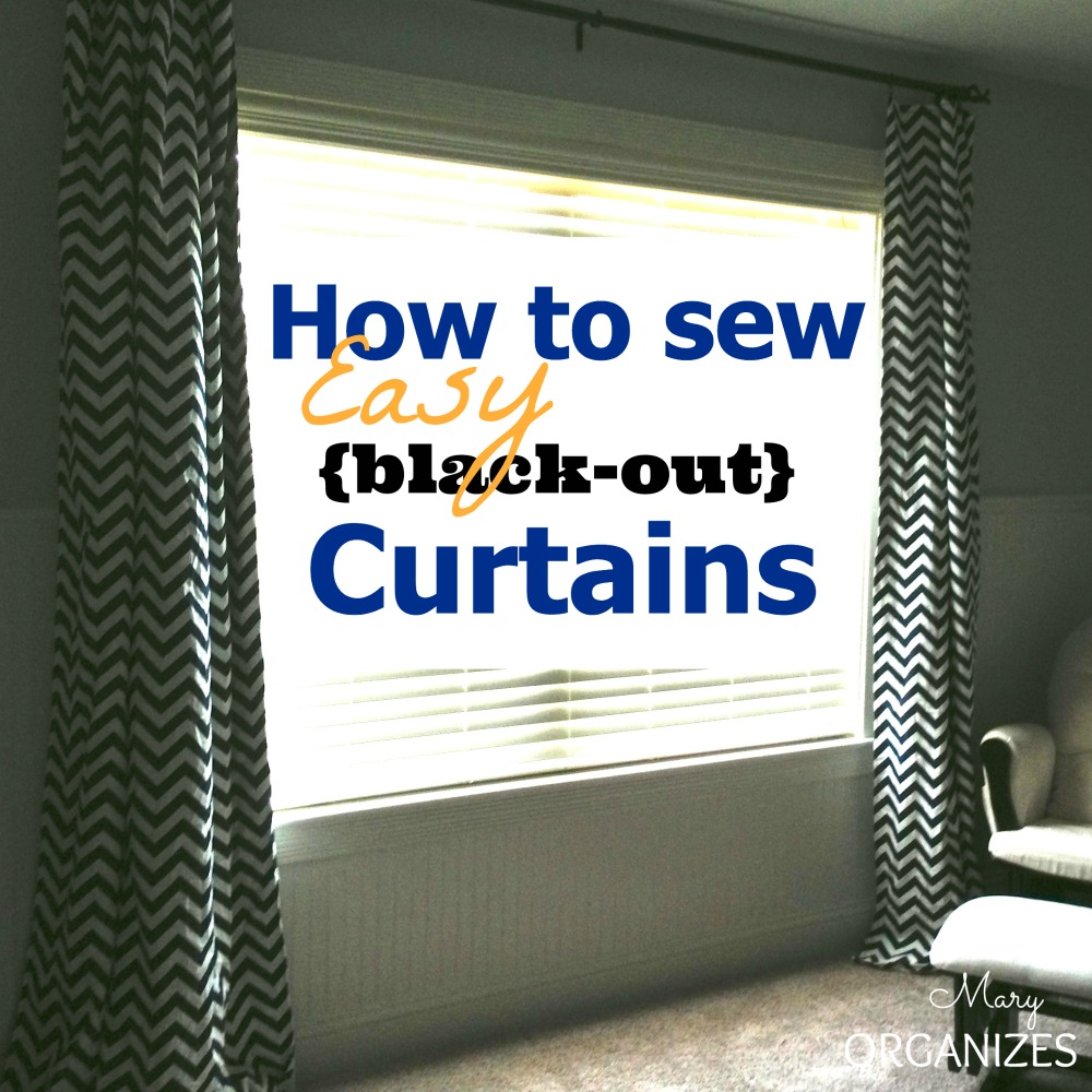 How To Sew EASY Curtains