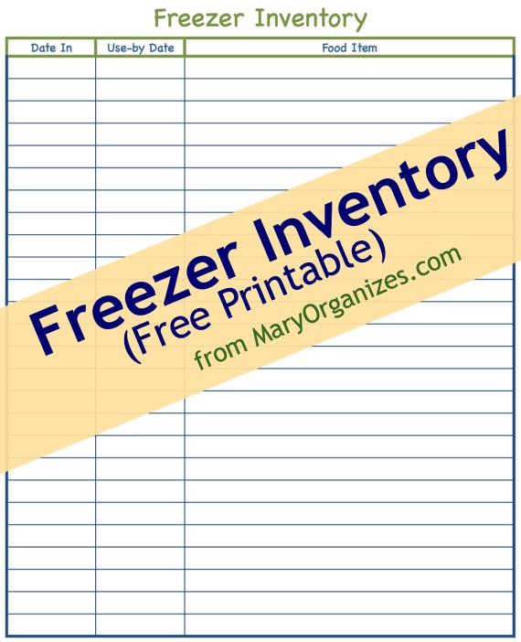 Challenger image inside freezer inventory printable