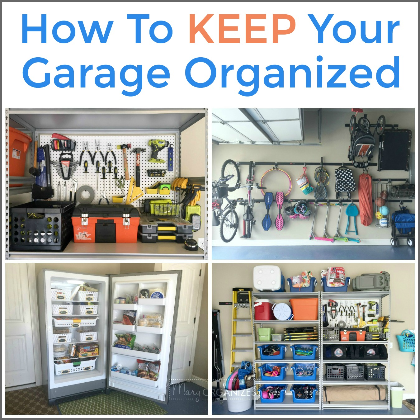 How To Organize A Stand Up Freezer In The Garage Creatingmaryshome