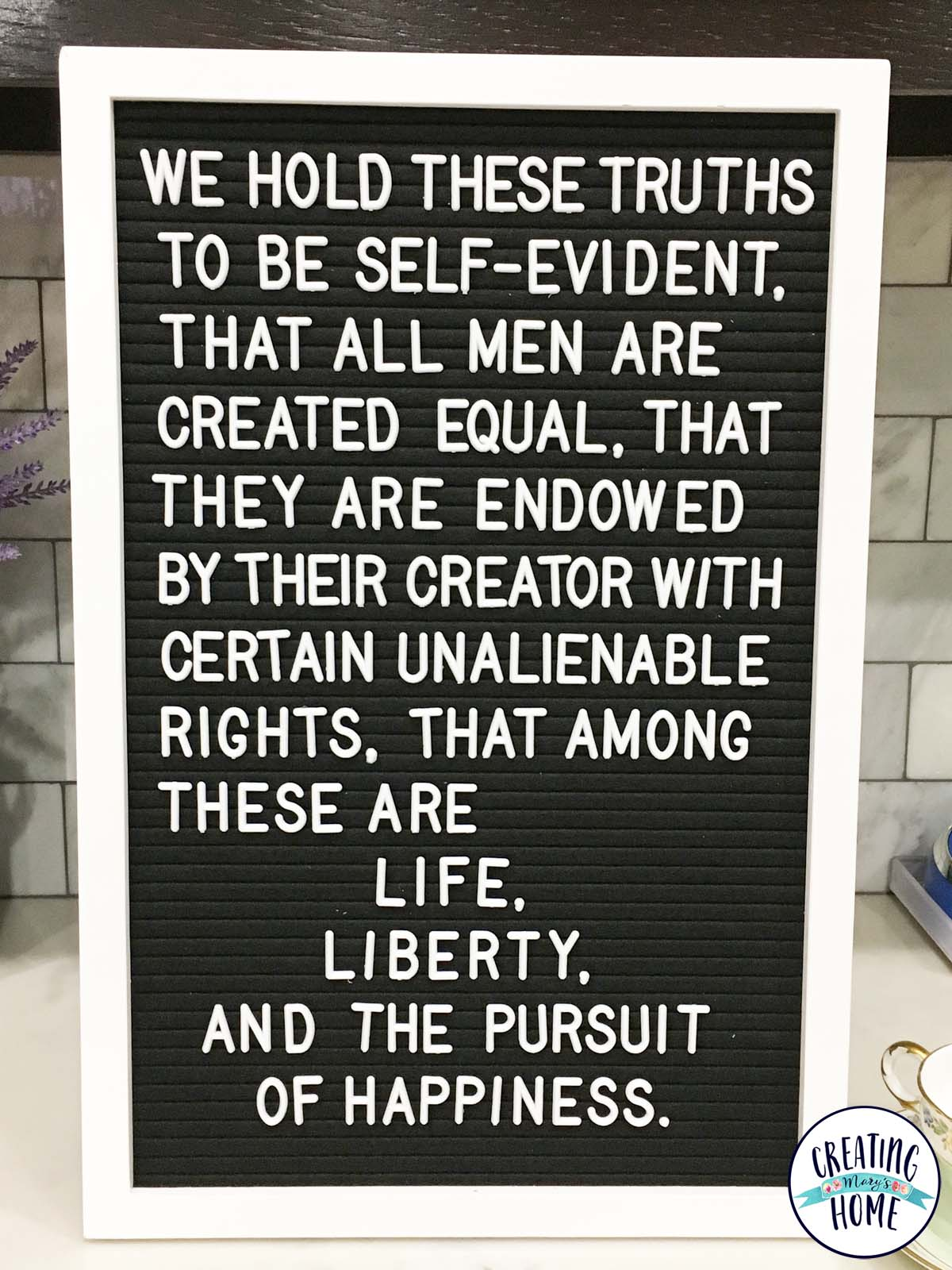 Quote - we hold these truths to be self-evident that all ...